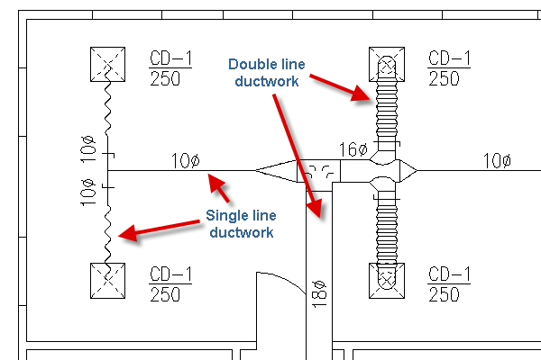 how to read ductwork blueprints