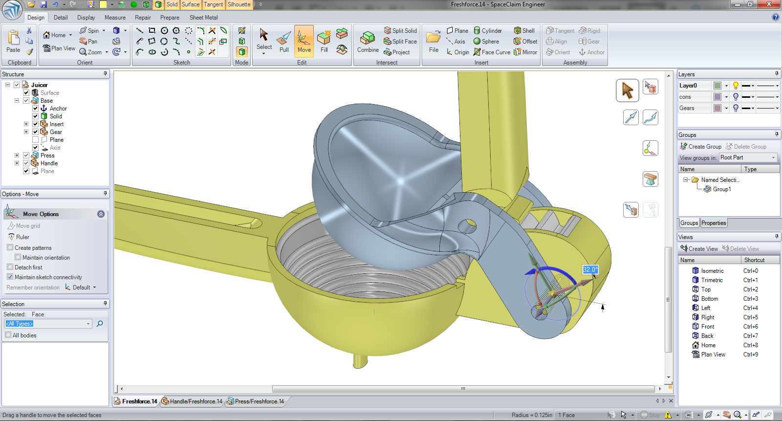 Spaceclaim engineer Free 3d cad software